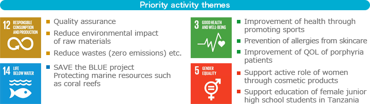 Priority activity themes