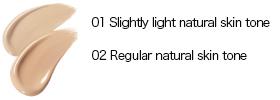 01 โทนสีผิวธรรมชาติแสงเล็กน้อย / 02 ปกติโทนสีผิวตามธรรมชาติ